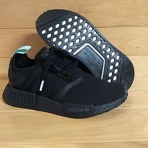 ea9b92543df adidas Shoes - Adidas NMD R1 W Black Mint Glow Green AQ1102